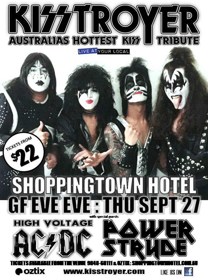 KISSTROYER Gigs and Events